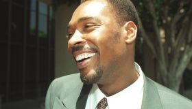 ME.King. 4.0711.RM/a Rodney King smiles after he was found not guilty of spousal battery (or abuse..