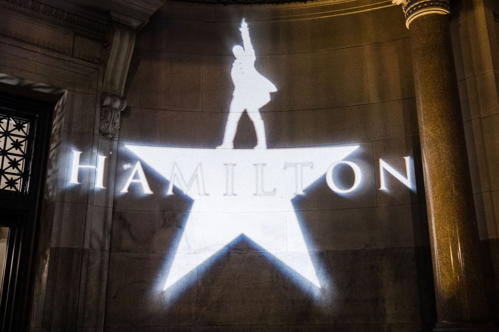 The company of 'Hamilton' celebrates opening night in San Francisco during an after-party