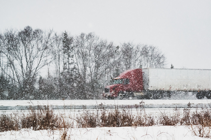 Trucking in Winter