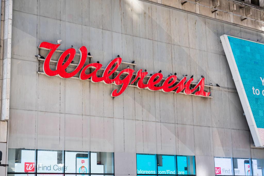 American company pharmacy store chain, Walgreens logo seen...