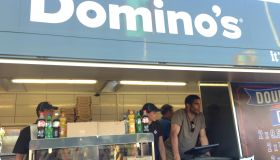 David James serving up some #RockFuel with Domino's Pizza at the Isle of Wight Festival
