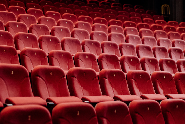 Full Frame Shot Of Empty Seats In Movie Theater