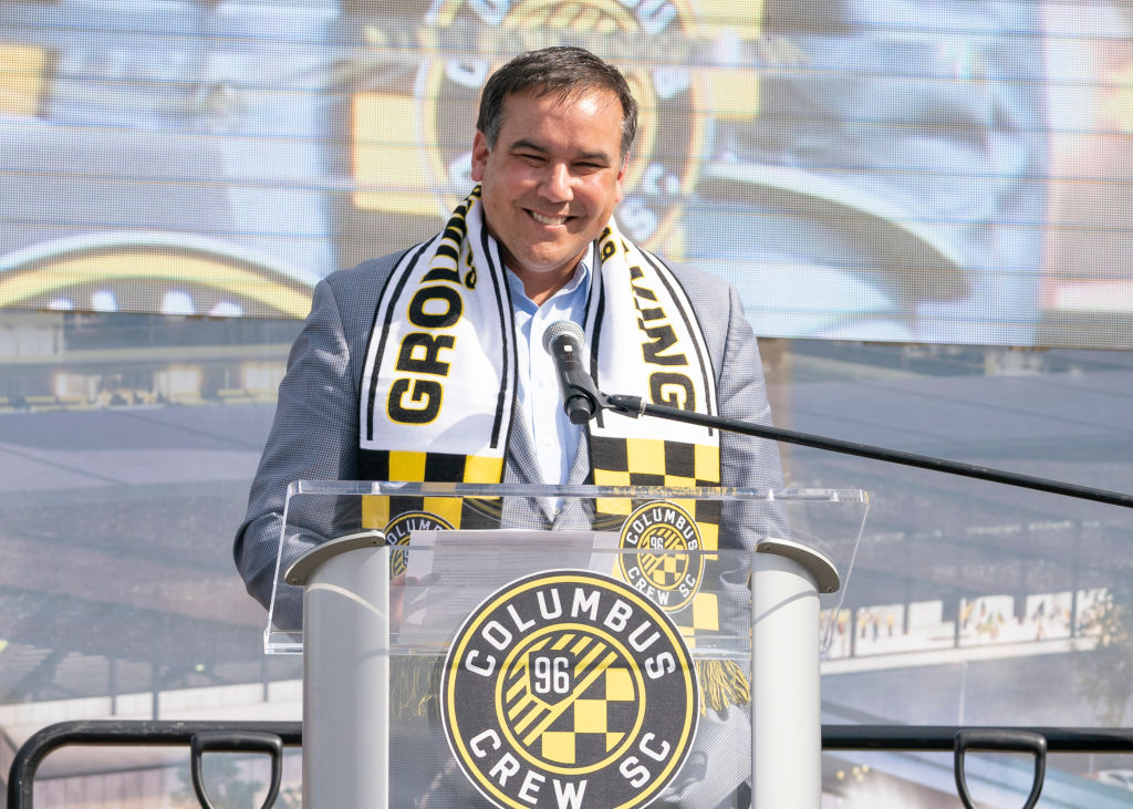 SOCCER: OCT 10 MLS - Columbus Crew SC New Downtown Stadium Groundbreaking Ceremony