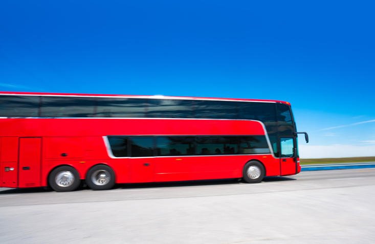 Coach bus on the highway