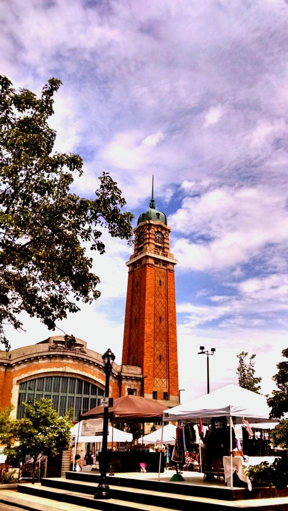 Low Angle View Of West Side Market Against Cloudy Sky