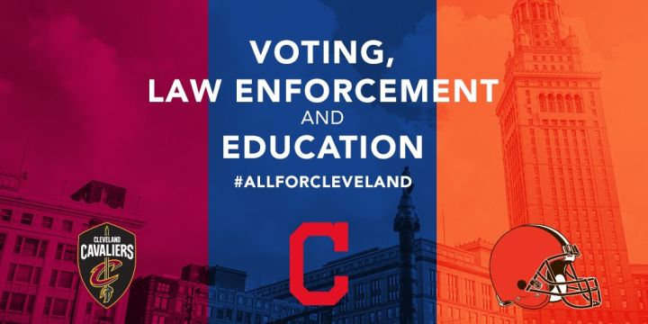 Cavaliers, Browns And Indians Forming Alliance To Address Social Injustice In Cleveland And NE Ohio