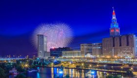 Cleveland, USA - July 4 2017: Annual 4th of July Fireworks