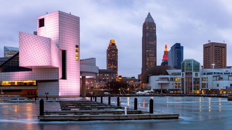 Skyline, Early Morning, Cleveland, Ohio, America