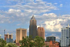 Dowtown Cleveland City Skyline