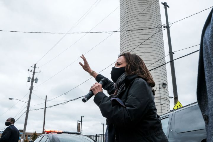 Vice Presidential Nominee Kamala Harris Campaigns In Cleveland
