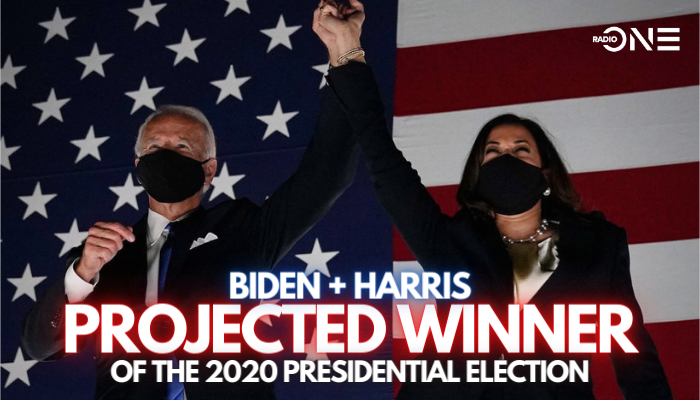 Joe Biden Kamala Harris Projected Winner 2020 Election