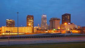Akron, Ohio downtown skyline