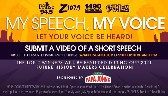 My Speech, My Voice Contest w/ Papa John's