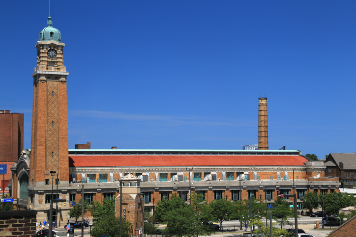 Exterior view of the West Side Market, Cleveland, Ohio, USA