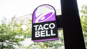 American fast food restaurants chain Taco Bell logo seen at...