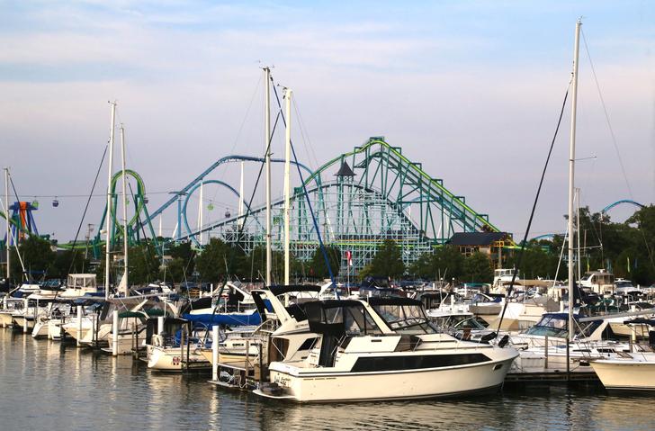 Amusement Park and Harbor, Cedar Point Amusement Park, Sandusky, Ohio, United States