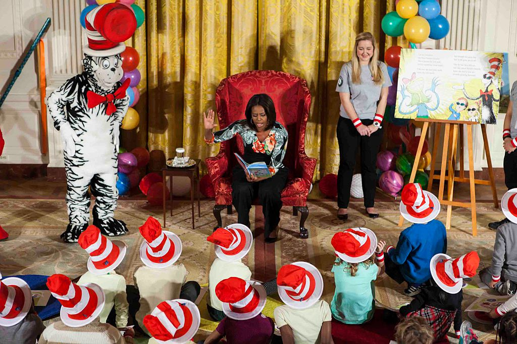 """Michelle Obama Hosts Local Students at """"Let's Read! Let's Move!"""" Event"""