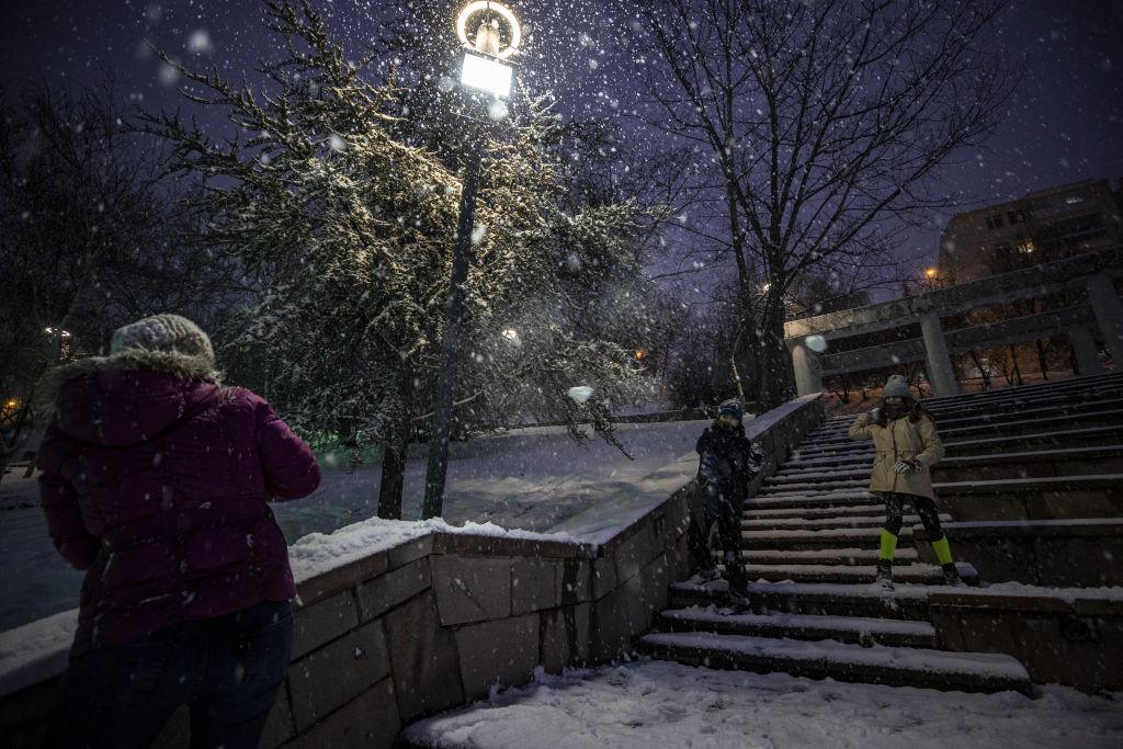 Snowfall in Ankara