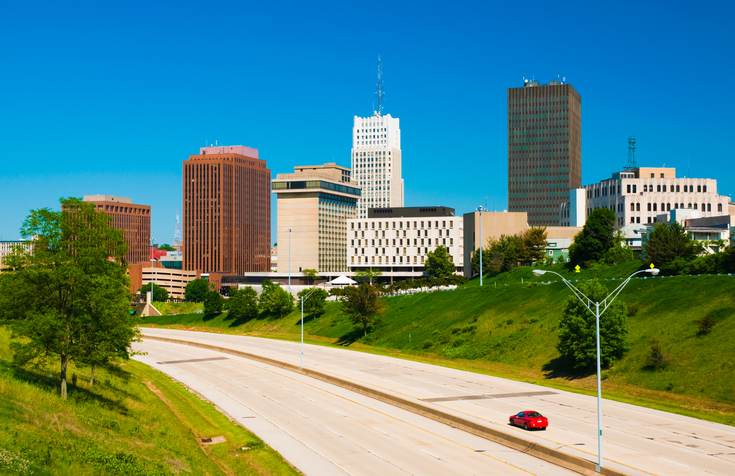 Akron Downtown Skyline