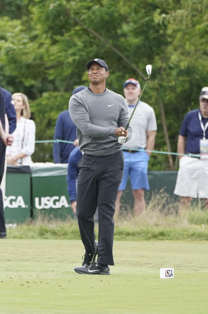 Tiger Woods plays in the US OPEN Golf tournament