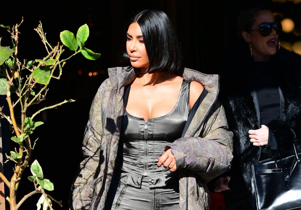 Kim Kardashian Steps out