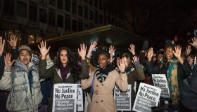 Solidarity with Ferguson protest at the US Embassy in London.