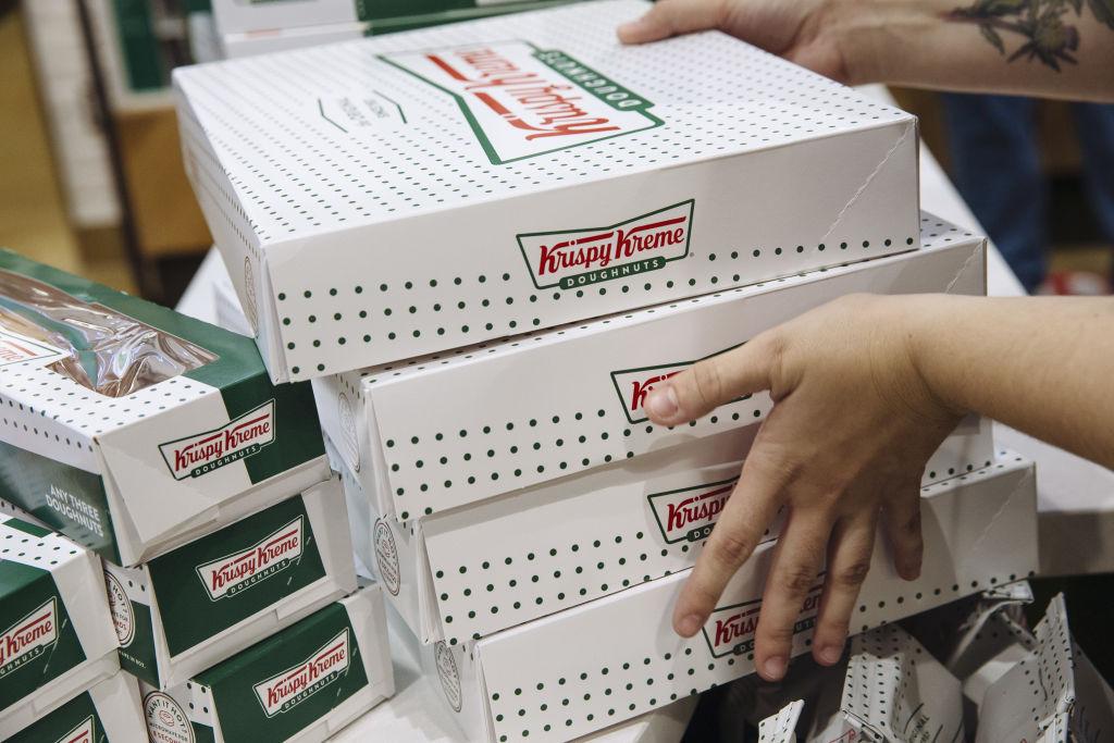 Krispy Kreme Doughnuts Times Square Flagship Location Ahead Of Opening