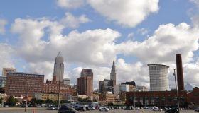 City skyline, downtown Cleveland