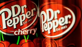 Cans of Dr Pepper. Dr Pepper is a soft drink created in the...