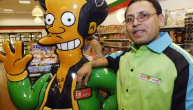 7-Eleven manager D.G. Suthar hangs out with cartoon propriet