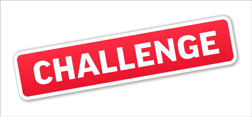 Challenge - Stamp, Banner, Label, Button Template. Vector Stock Illustration