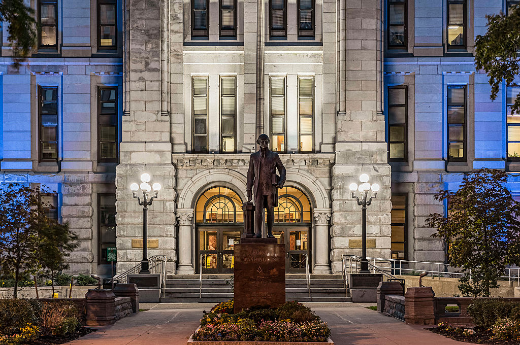 Erie County Hall building exterior...