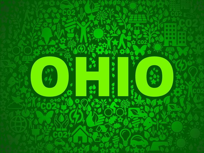 Ohio Environmental Conservation Vector Icon Pattern