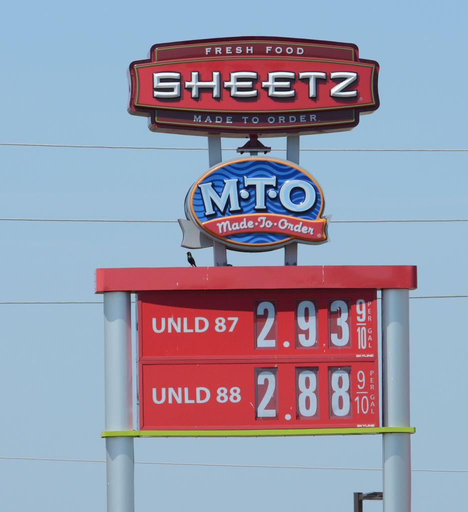 High gas prices in Berks. Sheetz in Leesport. 4/23/18 photo by Tim Leedy