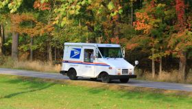 USPS Mail truck on a rural road