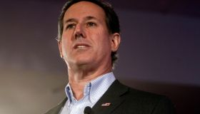 (Nashua, NH 012316 ) Republican presidential candidate former U.S. Senator Rick Santorum speaks during First-in -the Nation Presidential Town Hall at Radisson Hotel Nashua, New Hampshire January 23, 2016. Staff Photo by Chitose Suzuki