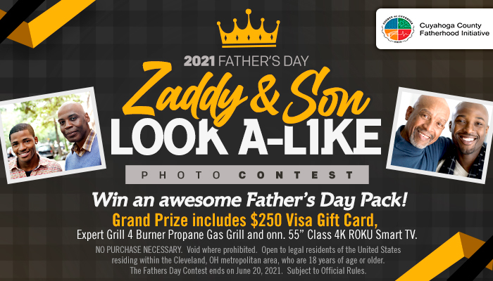 """Local: 2021 Father's Day """"Zaddy and Son Look A-Like"""" Photo Contest_ RD Cleveland_May 2021"""
