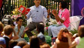 President And Mrs. Obama Host Easter Egg Roll On White House Lawn