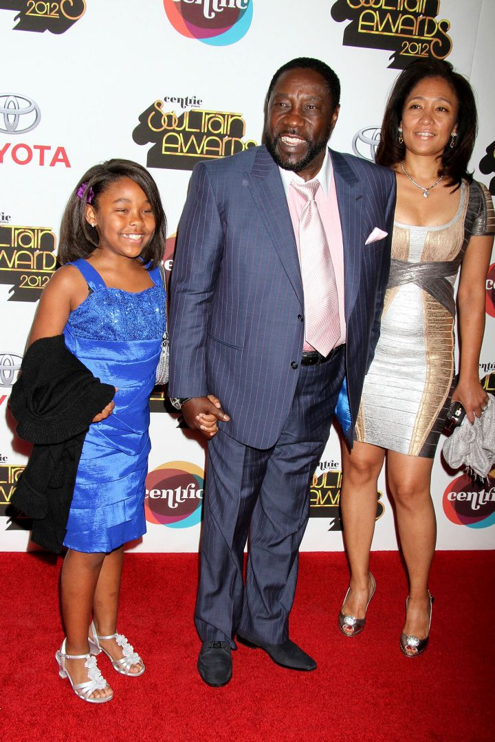 Eddie Levert and family at The 2012 Soul Train Awards