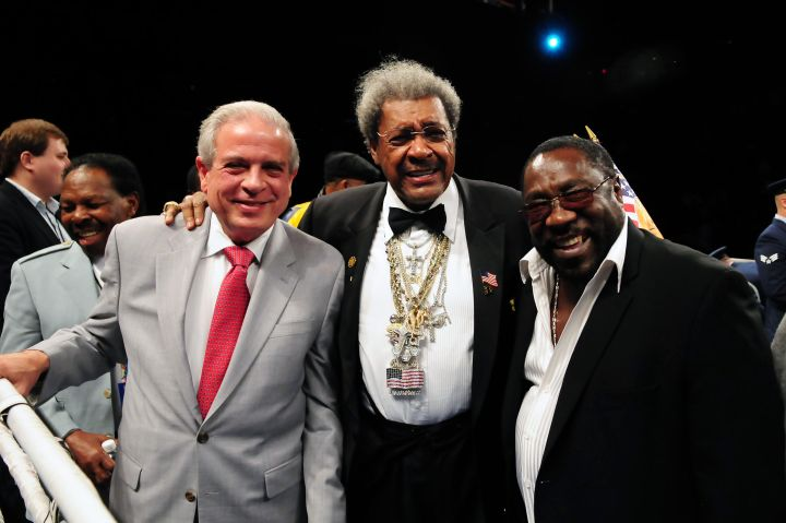 Miami Mayor Tomas Regaldo, Don King & Eddie Levert
