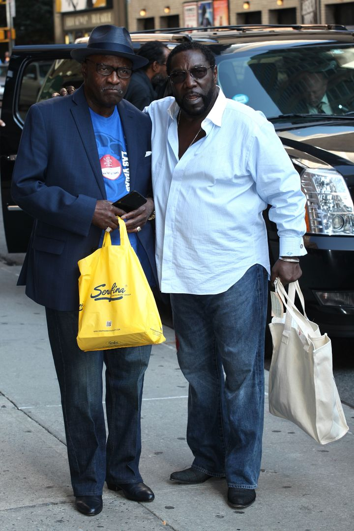 Eddie and Walter Williams Sr arriving for 'The Late Show With Stephen Colbert'