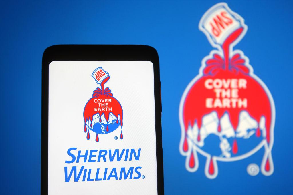 In this photo illustration, Sherwin-Williams Company logo...