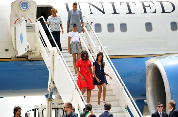 Michelle Obama and family in Venice