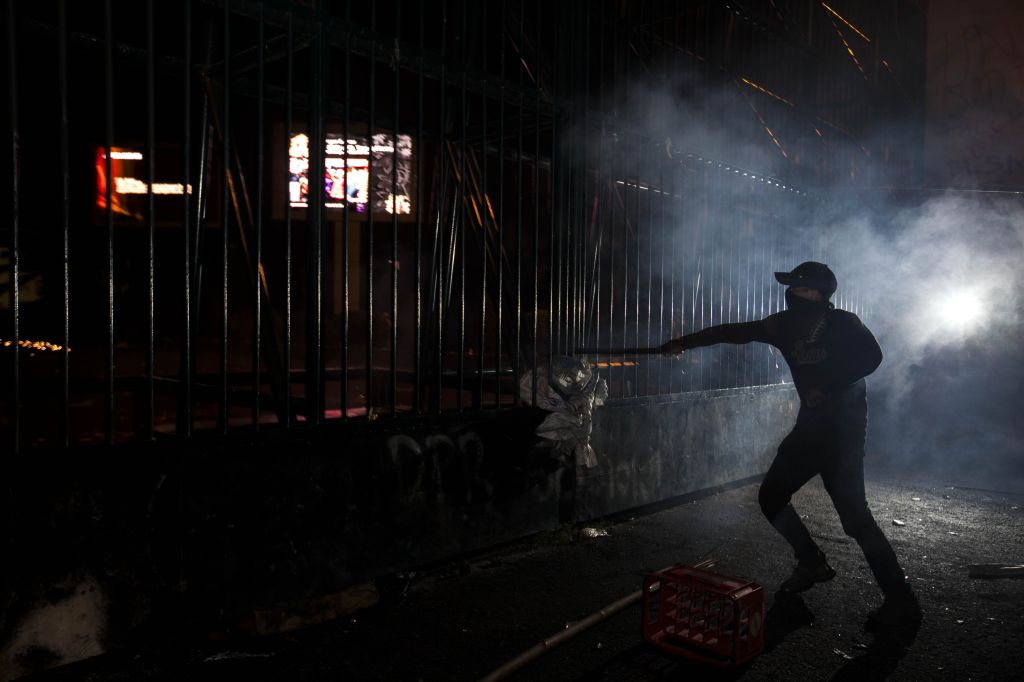 Riot demonstration in Jakarta