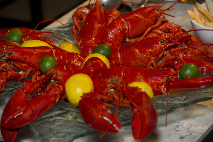 Platter Of Red Lobsters