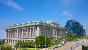 Downtown Cleveland's classical city hall