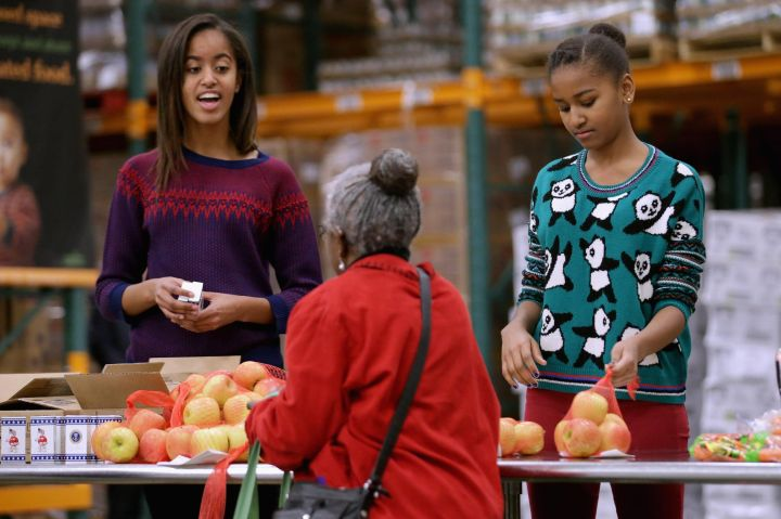 The Obama Family Takes Part In A Service Event In Washington DC