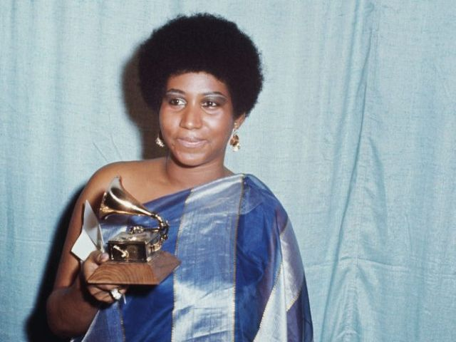 Aretha Franklin at the 13th Annual Grammy Awards