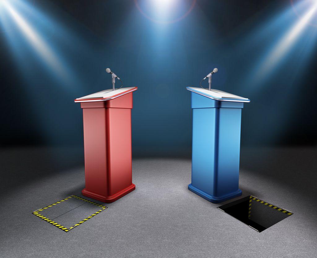 election podiums
