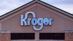 Kroger logo is seen at one of their stores in Athens.